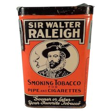Vintage Sir Walter Raleigh Tobacco Vertical Pocket Tin
