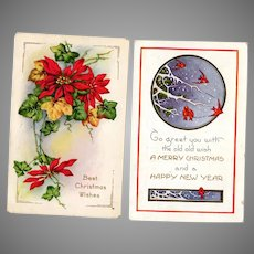Vintage Christmas Postcards – Two with Holiday Images