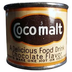 Vintage Cocomalt Sample Tin - Nice Little Cocoa Advertising Tin