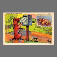 Vintage Humor Postcard with Comical Dogs – Cheer Up, Thinking of You
