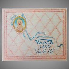 Vintage Vanta Bath Kit Box – Cute Advertising for Baby's Room or Nursery