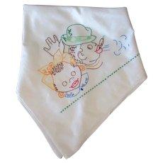 Vintage Black Memorabilia - Embroidered Dish Towel