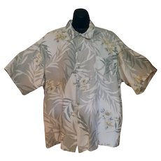 Vintage Hawaiian Style Shirt - Majestic Casual with Hibiscus Flower Design - Size XXL