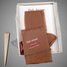 Vintage Park Avenue Nylon Stockings - Unused Pair with Box