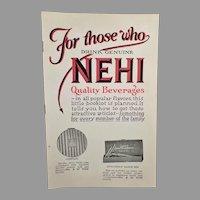 Vintage Nehi Soda Product Premium Booklet – Nehi Beverages Catalog