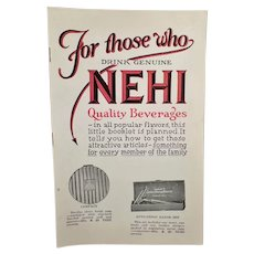 Vintage Nehi Soda Product Premium Booklet – Nehi Beverages Catalog
