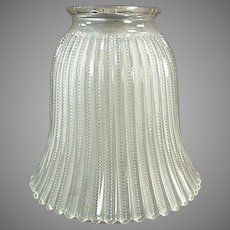 Single Vintage Light Shade - Frosted with Zipper Pattern