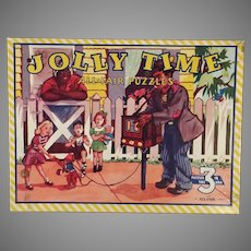 Three Vintage Picture Puzzles – Boxed Set of 3 Jolly Time All Fair Puzzles