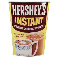 Vintage Hershey Instant Cocoa Tin - Colorful Old Advertising Tin