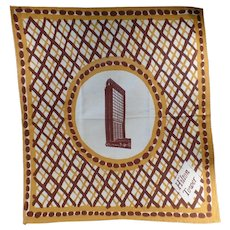 Large Vintage Cloth Napkin from the San Francisco Hilton Tower Hotel