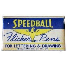 Vintage FB3 Speedball Flicker Pen Tips with Original Box - 12 Nibs