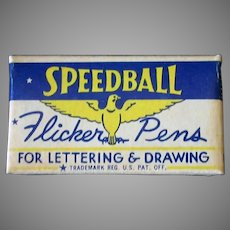 Vintage FB3 Speedball Flicker Pen Tips with Original Box - 12 Nibs