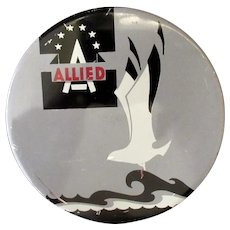 Vintage Typewriter Ribbon Tin - Allied with Seagull