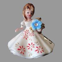 Vintage Josef Original Birthday Series - December Birthday Girl with Original Label