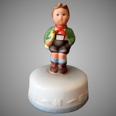 Vintage 1984 Hark the Herald Schmid Music Box - Hummel inspired Boy on Cake