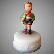 Vintage Schmid 1984 Music Box – Hark the Herald - Hummel Inspired Boy on Cake