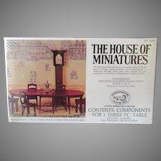Vintage Craftmark House of Miniatures Doll Furniture – Hepplewhite Dining Table #40006 Kit