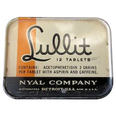 Vintage Nyal Lullit Medical Tin