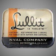 Vintage Nyal Lullit Medical Tin