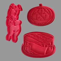 Vintage Tupperware Holiday Cookie Cutters - Collection of Three Fun Shapes