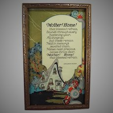 Vintage Motto Print - Mother! Home! by John Jarvis Holden - Beautiful Graphics
