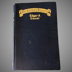 Vintage 1923 Hardbound Poetry Book – The Passing Throng by Edgar A Guest, 1923