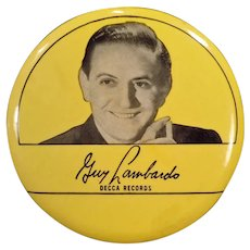 Vintage 1940's Phonograph Record Duster – Guy Lombardo – Old Decca Records Advertising