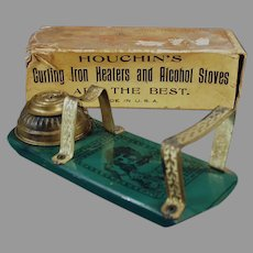 Antique Houchin's Princess Alcohol Curling Iron Heater with Original Box - 1800's