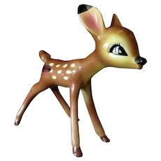 Vintage 1940's American Pottery Figurine from Disney's Bambi – Faline with Label