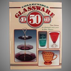 Vintage Glass Reference Book - 40s 50s 60s Collectible Glassware by Gene Florence