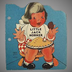 Child's Vintage Christmas Story of Little Jack Horner - Paper Booklet