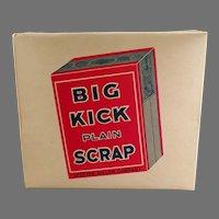 Vintage Big Kick Plain Scrap Tobacco Display Box