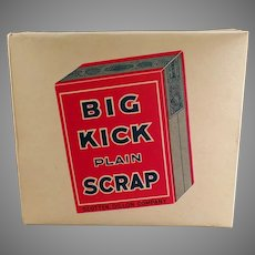 Vintage Big Kick Plain Scrap Tobacco Display Box