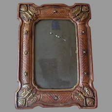 Vintage Syroco Picture Frame - Looks Like Carved Wood with Patriotic Theme