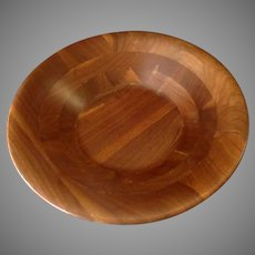 Large Vintage Wood Salad Serving Bowl – Great for Fruit & Snacks Too
