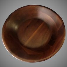 Vintage 12 inch Wood Serving Bowl – Ozark Treasures Missouri Label