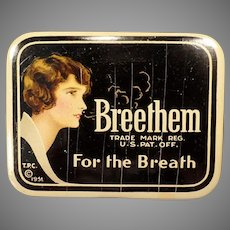 Vintage Breethem For the Breath - Advertising Tin from the 1930's