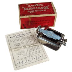 Vintage 1918 Kanner's Dubeledge Razor Blade Stropper Sharpener with Original Box