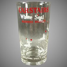 Vintage Carstairs White Seal Whiskey Advertising Highball Glass - 2 Available