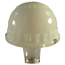 Vintage Opalescent Custard Glass Specialty Light Fixture Shade - Small Lamp Shade