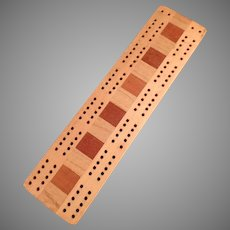 Vintage Cribbage Game Board with Multi-Colored Woods