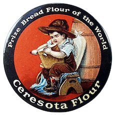 Vintage Celluloid Pocket Mirror Advertising Ceresota Flour - Nice Condition