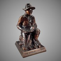 Vintage Figural Advertising Coin Bank with California Gold Prospector