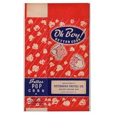 Vintage Unused Oh Boy! Better Corn Popcorn Box - Colorful Graphics with Children