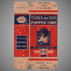 Vintage Hart & Howell H & H Popcorn Box with Little Girl