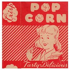 Vintage Empire State Nut Company Popcorn Box - Boy & Girl Graphics