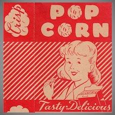 Vintage Empire State Nut Company Popcorn Box - Boy & Girl Graphics