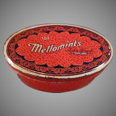 Vintage Brandle and Smith Mellomint Candy Tin - Little 10c Size
