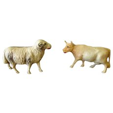Vintage Miniature Celluloid Toys Made in USA – Sheep and Cow