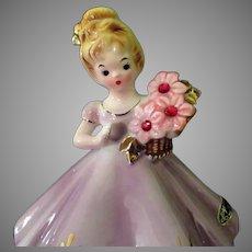 Vintage Josef Original – July Ruby Birthstone Doll Series Birthday Girl